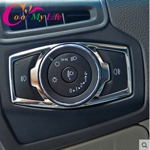 Color My Life Car Headlight Switch Trim Decorative Sequins Cover Sticker for Ford Focus 3 4 MK4 2014 2015 2016 2017 Accessories