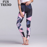 Sport Trousers Sport Pants Women Elastic Printed Yoga Pants Yoga Leggings Running Tights Sport Leggings Gym