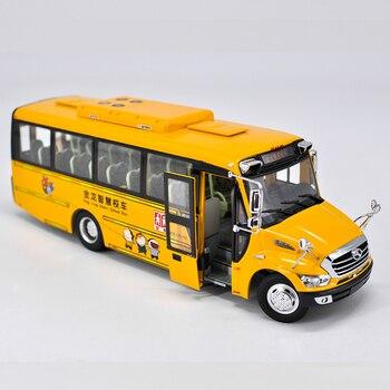 Modèles De Bus Scolaire | Alliage Modèle Cadeau 1:38 Original Roi Long XMQ6900BSD Intelligent école Transit Bus Véhicule Moulé Sous Pression Jouet Collection Décoration