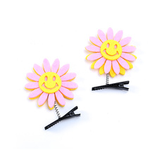 New Multi-Color Fashion Sunflower Hair Accessories Hairpin Ladies Exquisite Cute Children Handmade