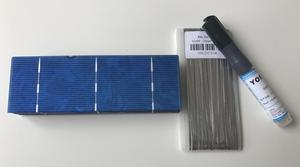 156mm*52mm solar cell 1.4W 0.5V for solar panel DIY 50pcs/lot .Give enough solder strip and Flux pen for free. Free shipping.