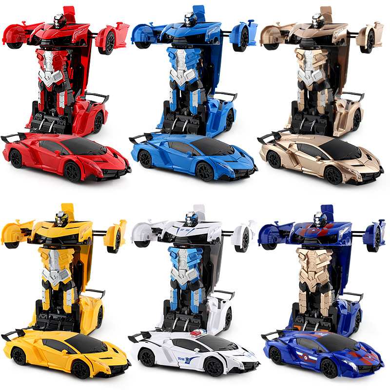 2In1 RC Car Sports Car Transformation Robots Models Remote Control Deformation Car RC Fighting Toy Kids Childrens Birthday Gift