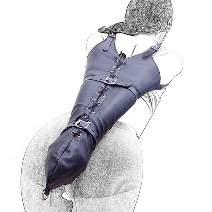 MaryXiong PU Leather Arm Binder Body Harness Restraint Sex Game Toy Fetish Wear Role Play Bdsm Bondage Trusser Kinky Sex Product