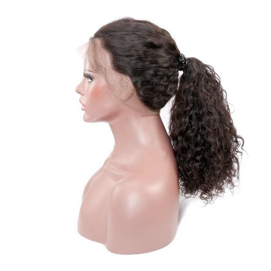 Stema волна воды 360 синтетический фронтальный парик 180% Плотность для черных женщин бразильские человеческие парики Remy