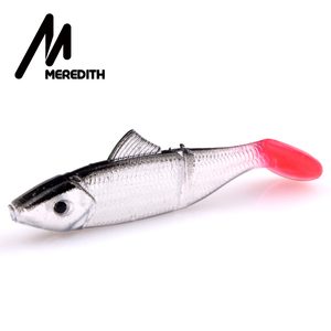 Meredith LURE JX03-07 Retail HOT SELLER 10pcs 70MM 3.2G fishing fish soft lure soft bait