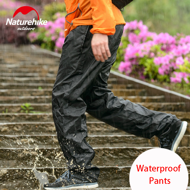 Naturehike Outdoor hiking pants rain pants men women walking mountaineering travel bike riding rain waterproof trousers ...