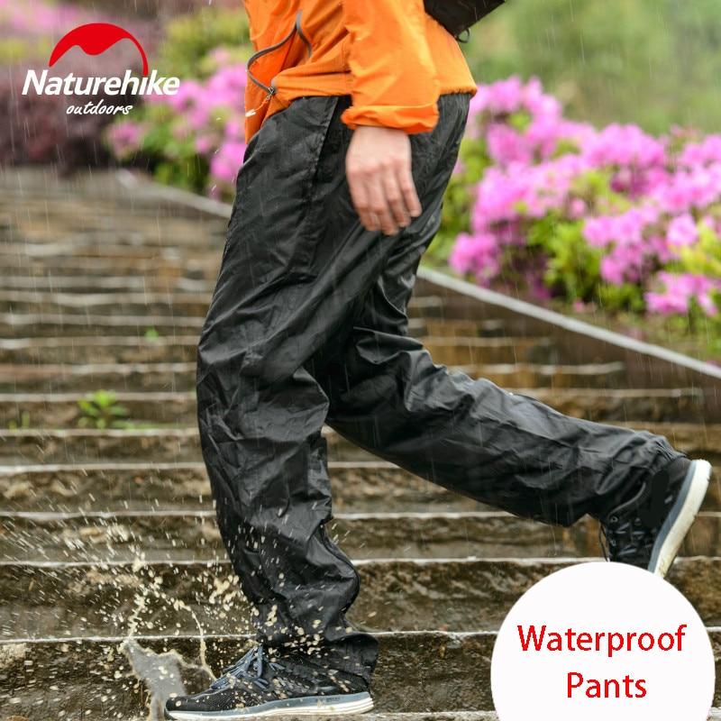 Naturehike Outdoor Hiking Pants Rain Pants Men Women Walking Mountaineering Travel Bike Riding Rain Waterproof Trousers