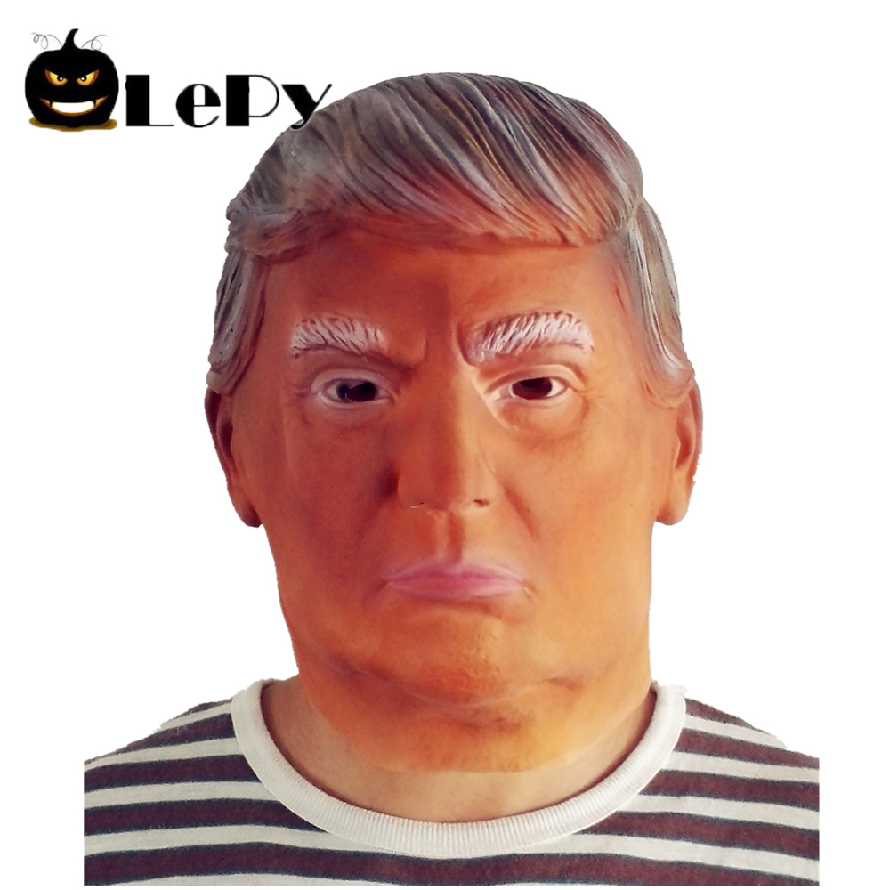 Lifelike Donald Trump Mask Billionaire Presidential Mask Costume Latex Halloween