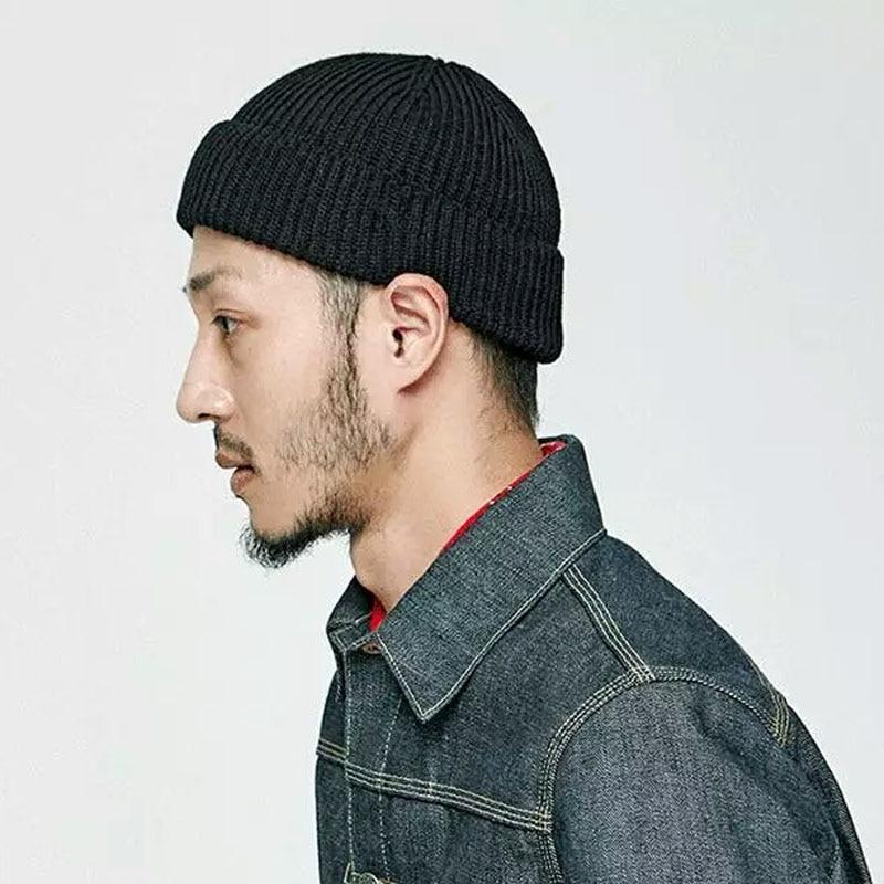 a3e4d3bea Winter Beanies Hats Men Women Solid Knitted Skullies Cap Female Male Black  Hat