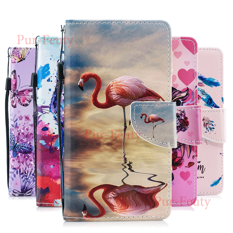 Flip wallet Case for <font><b>Samsung</b></font> Galaxy <font><b>J3</b></font> J 3 <font><b>2017</b></font> J330F/DS 330 J330 J330Fn SM-J330Fn SM-J330F/DS Case Flamingo Leather Phone Cover image