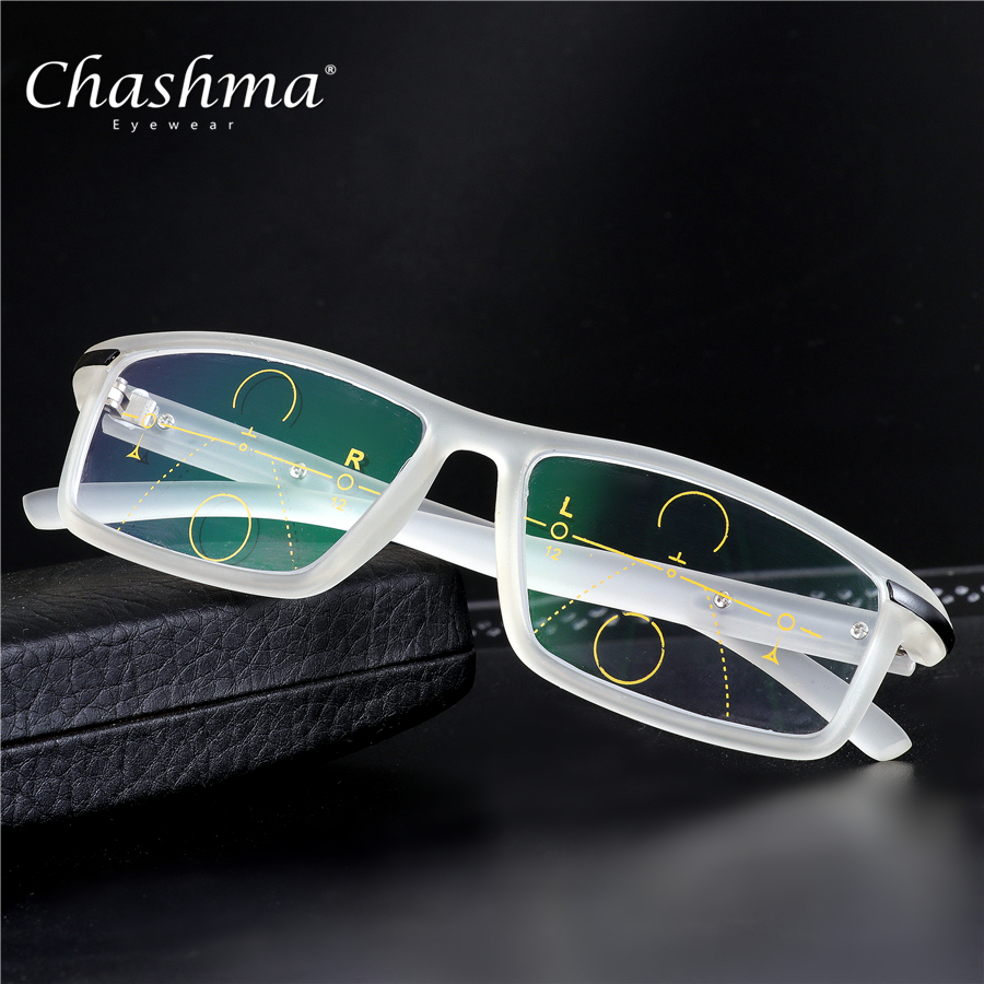 CHASHMA Brand Progressive Multifocal Lens Reading Glasses Men Presbyopia Hyperopia Bifocal Sports Glasses TR90 Oculos De Grau