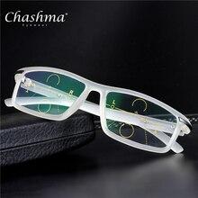 CHASHMA Brand Progressive Multifocal Lens Reading Glasses Men Presbyopia Hyperopia Bifocal Sports TR90 Oculos De Grau