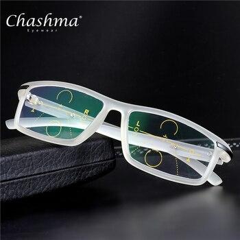 c3c246442 CHASHMA Marca Homens Óculos De Leitura Hipermetropia Presbiopia Lente  Multifocal Progressiva Bifocal Óculos Esportes TR90 Oculos de grau