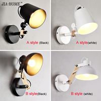 Modern Brief Bedside Solid Wood Wall Lamp WQJ 006 Oak Wood Wall Lights For Bedroom LivingRoom