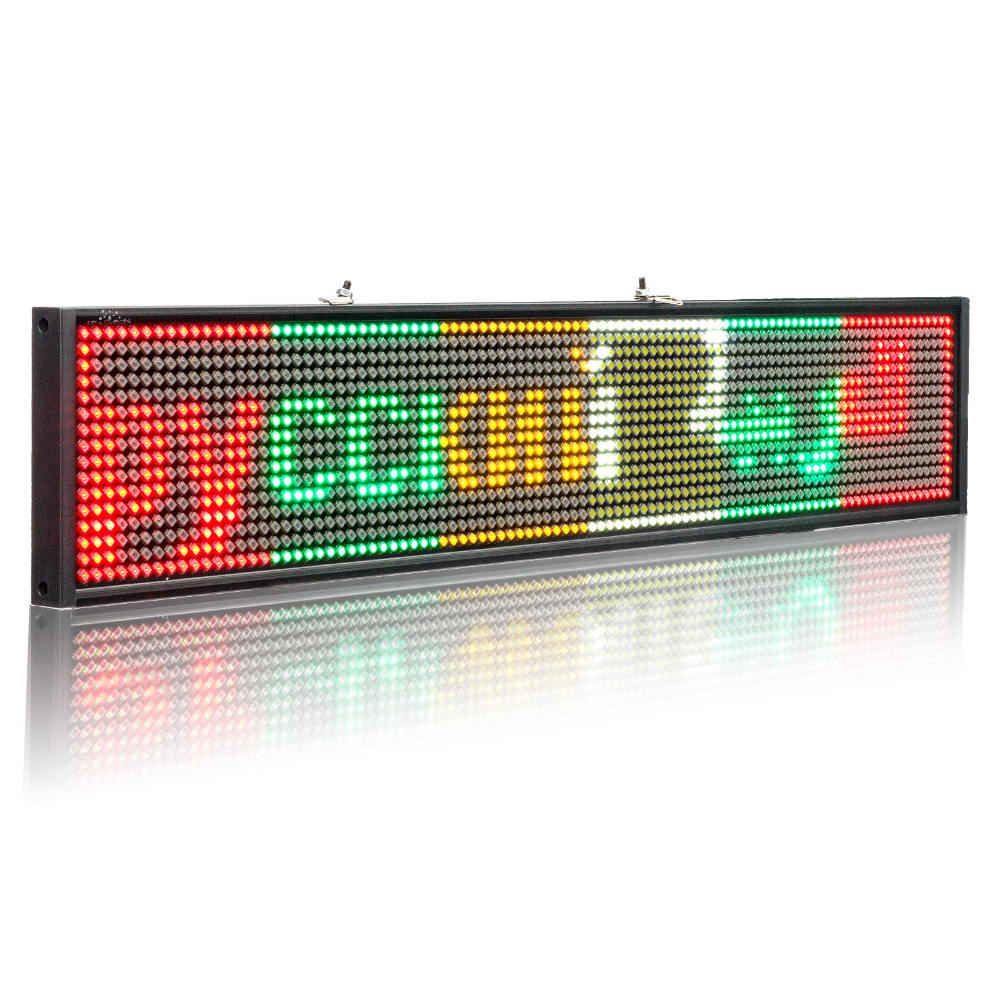 12V P5mm SMD Car LED Sign Scrolling Program Multi Color TaxI Advertising Business Color Display Board + 2 Sucker