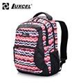Luxcel mochila mujeres mochilas escolares estilo preppy diseño original brasil mochila moda mochila w/patrón de rayas de impresión
