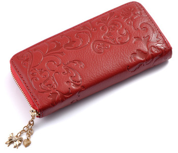 Floral Embossed Leather Women's Wallet Bags and Wallets Best Seller Hot Promotions Women's Wallets Color: B015a