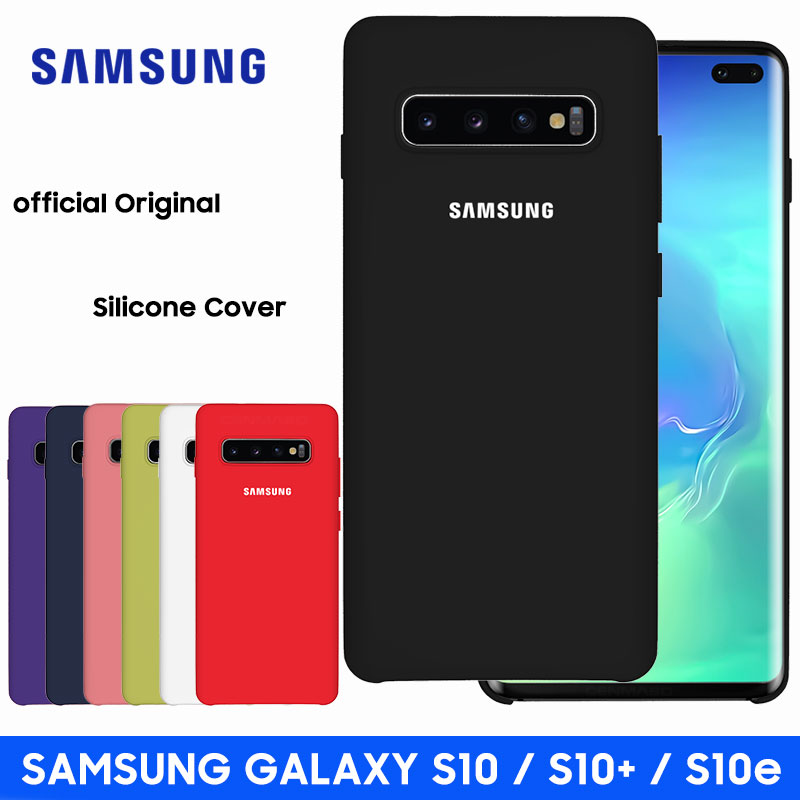 Samsung S10 Case Original High Quality Soft Silicone Protector Case Samsung Galaxy S10 Plus Case Galaxy S10 S10e Silicone Case(China)