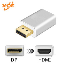 Manufacturer Direct DP to HDMI adpter D Adapter isplayport HDMI Aluminum Alloy Edition цена 2017