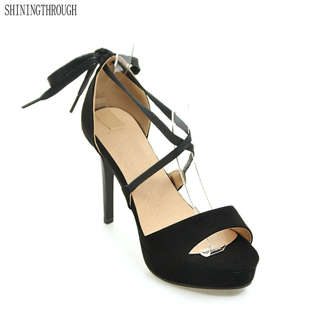 67c72563391556 2018 new lace up Sandals Spain Summer Style Ladies Sexy Stiletto pumps Women  High Heels Sandals Party Wedding Shoes Woman
