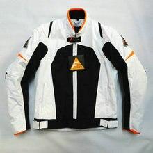 Новое лето воздухопроницаемой сеткой мотоцикла с 5 компл. защитного оборудования внедорожные гонки спортивные костюмы мужские езда куртка