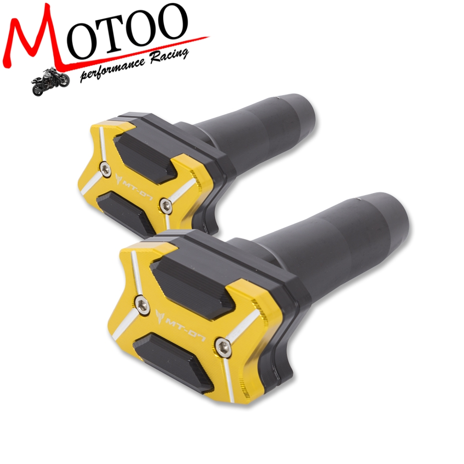 Motoo - 2017 NEW CNC Aluminum Left and Right Motorcycle Frame Slider Anti Crash pads Protector For YAMAHA MT07 MT-07 2013-2017 laser logo fz6 for yamaha fz6 fazer 2006 2010 2007 2008 2009 cnc motorcycle frame crash slider protector drop resistance