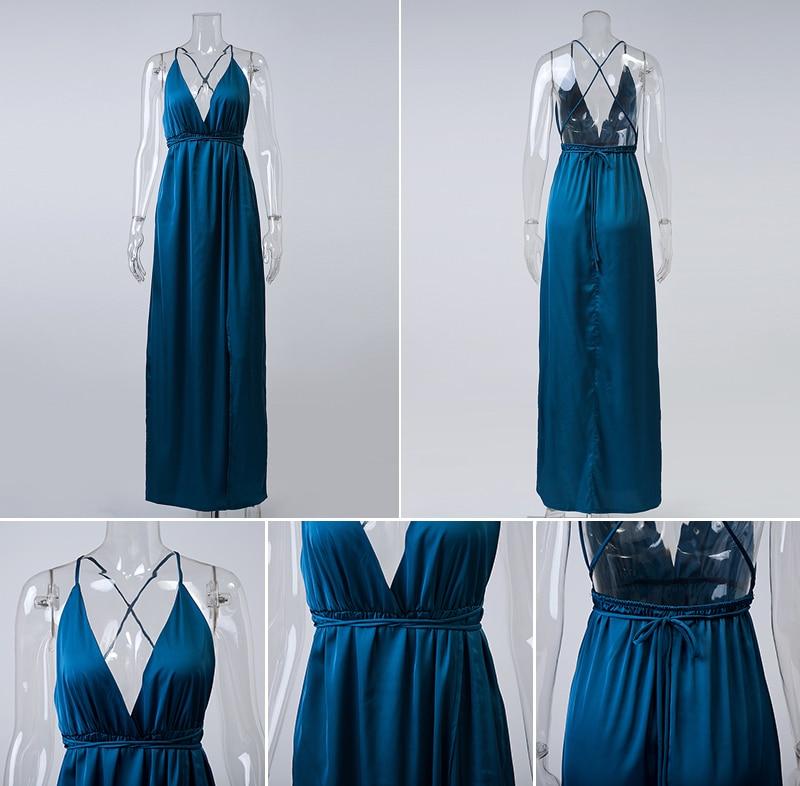 HTB1eqgHNFXXXXaLapXXq6xXFXXXU - Off Shoulder Sexy Deep V Neck Beach Style Women Dress Strap Backless Maxi Long Evening Party Dresses JKP028