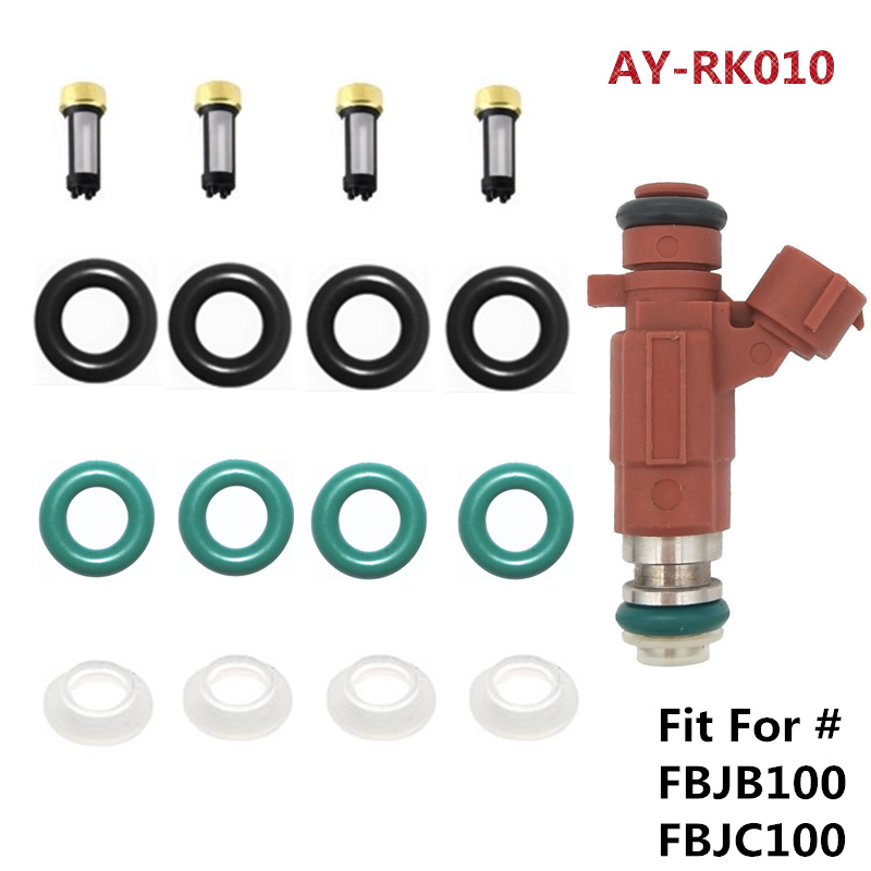 4sets Fuel Injector Repair Kit Service Kits Fit For Nissan Sentra Fuel Injector #FBJB100 FBJC100 16600-5L700 166005L30  AY-RK010