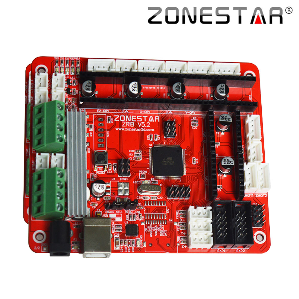 ZONESTAR 3D Printer Controller Control Board Motherboard ZRIB Compatible With Ramps V1 3 V1 4 ATMEGA2560 zonestar 3d printer controller control board motherboard zrib  at gsmx.co