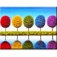 5 Trees Painting DIY Diammond Painting Needlework Cross Stitch Diamond Embroidery Mosaic For Kit Living Room
