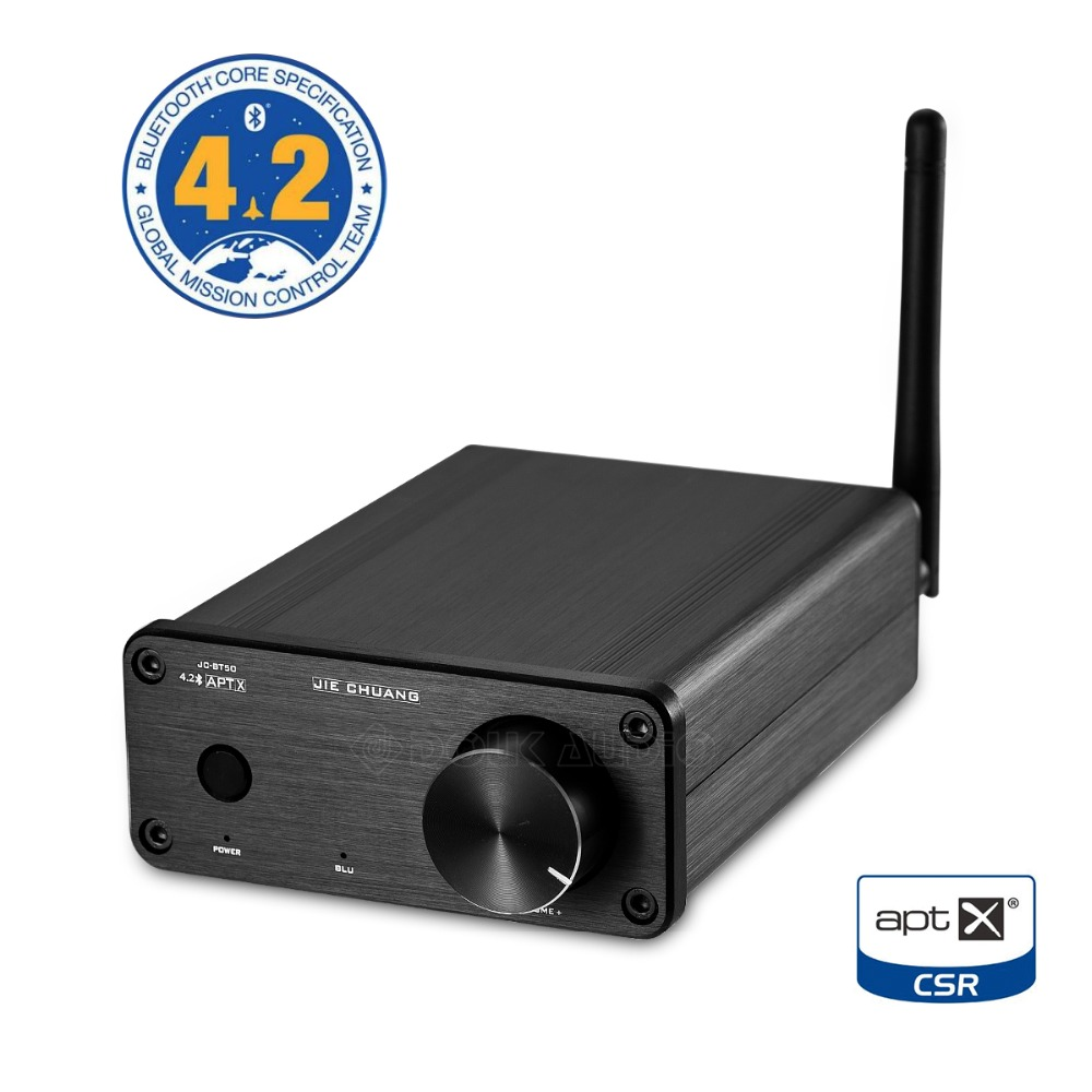TPA3116 Digital Power Amplifier Bluetooth 4.2 Audio Receiver APTX 50W+50W Black