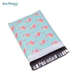 Image 3 - 100 stücke 25,5*33 cm 10*13 zoll Flamingo muster Poly Mailer Selbst Dichtung Kunststoff mailing Umschlag Taschen /taschen für verpackung shirts