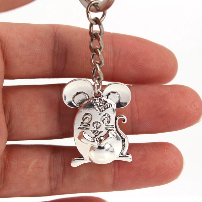 Hzew New Fat Rat Key Chains Cute Mouse Keychain Gift