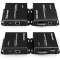 El Envío Gratuito! 50 m 1080 P Remoto IR USB KVM DVI Extender por CAT5e/6 con Un CONMUTADOR KVM DVI Cable Dedicado (un conjunto Extensor TX + RX)