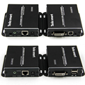 Free Shipping! 50m 1080P IR Remote USB KVM DVI Extender by CAT5e/6 with One DVI  KVM Dedicated Cable(one Extender TX+one RX set)
