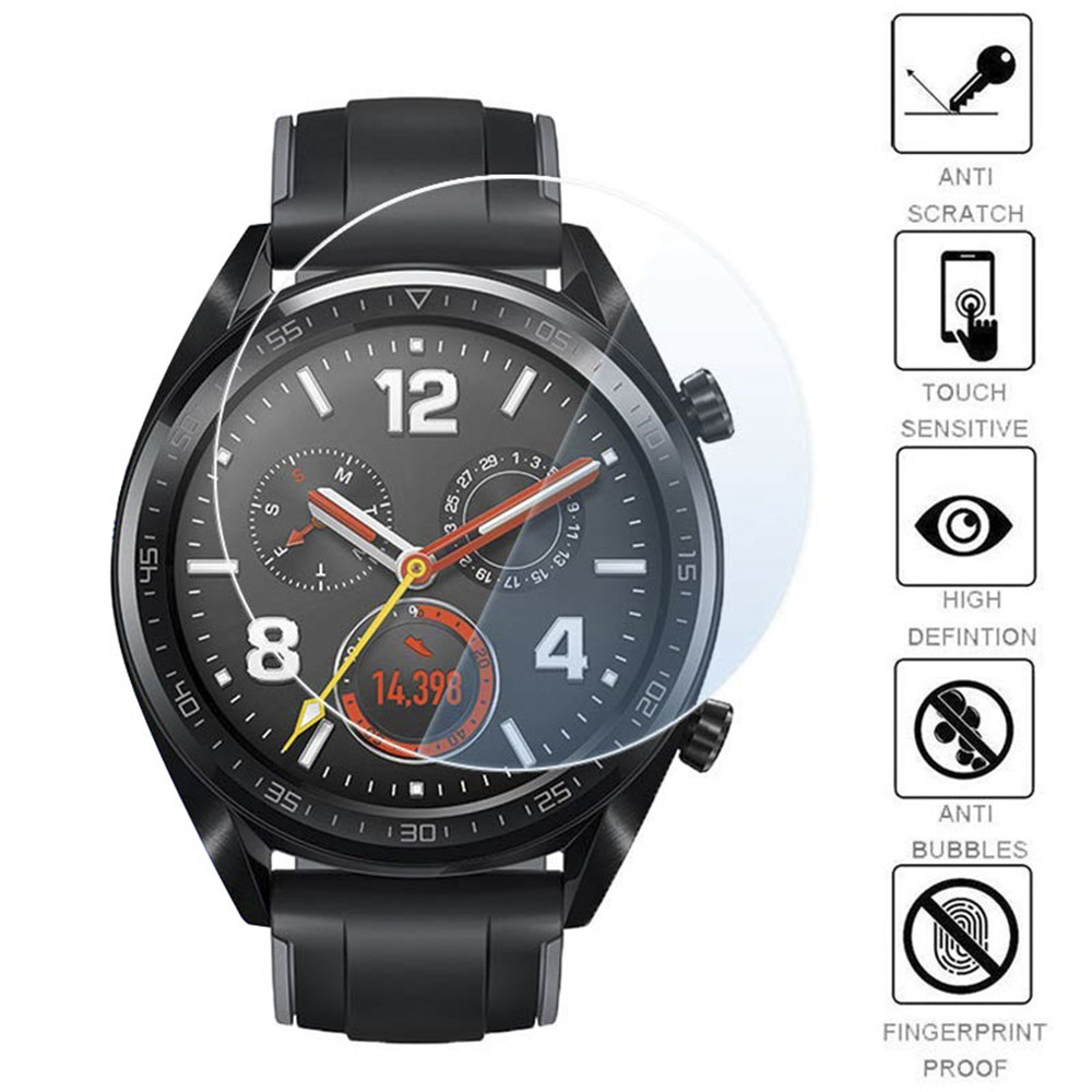 Tempered Glass Film For Huawei Watch GT Active Screen Protectors 9H Protective Glass Film 2.5D Anti Scratch Films