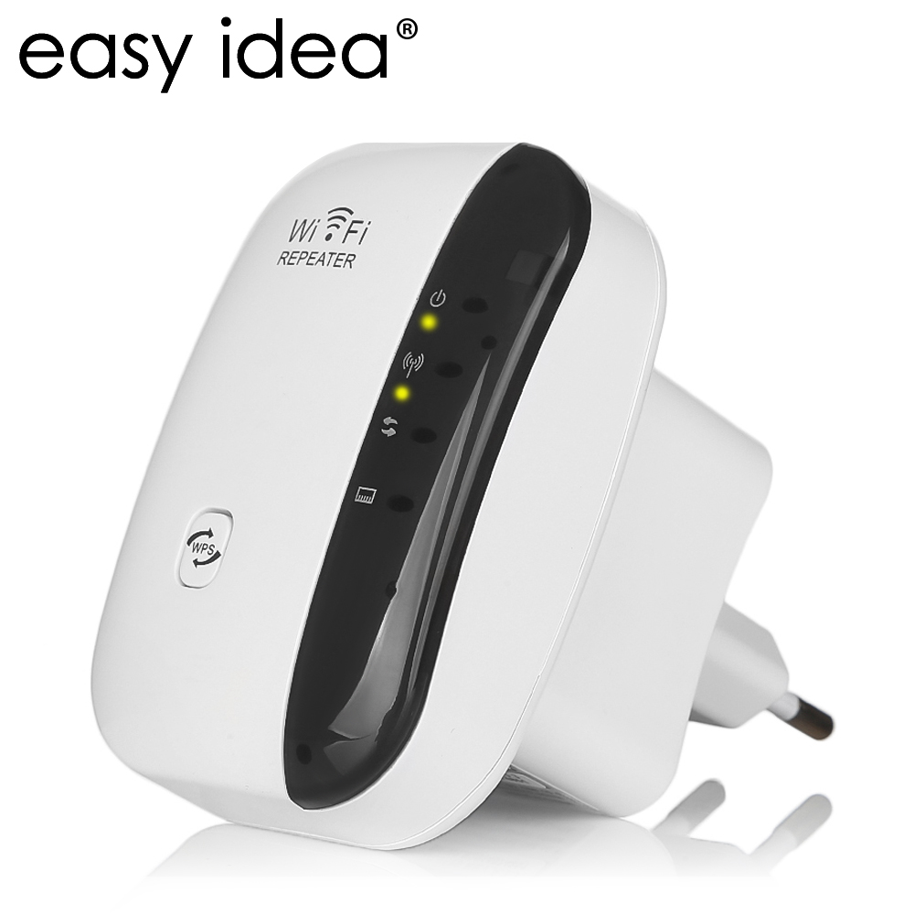 EASYIDEA Wireless Wifi Repeater 300Mbps Network Receiver Wifi Extender 802.11n/b/g Ethernet Wireless Signal Booster Repeater