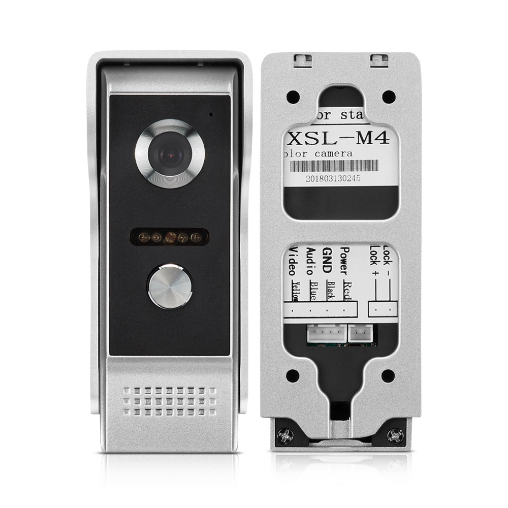 Door Phone Intercom Outdoor Call Panel Unit For Apartment Home Security Video Door Phone Doorbell System IR Night Vision