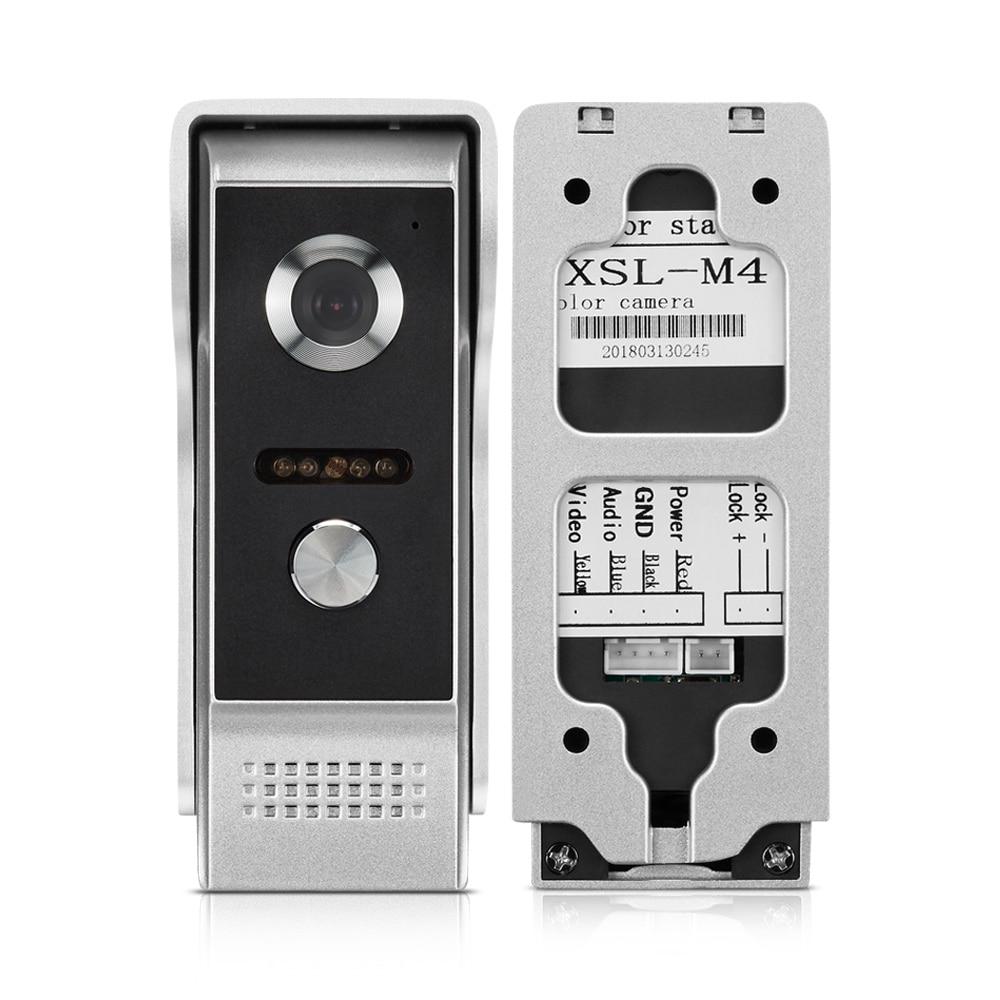 Door Phone Intercom Outdoor Call Panel Unit For Apartment Home Security Video Door Phone Doorbell System IR Night Vision