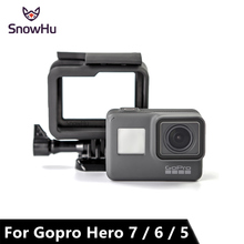 цена на SnowHu For GoPro Accessories Hero 5 Protective Frame Case Camcorder Housing Case For GoPro Hero5 Black Action Camera LD03