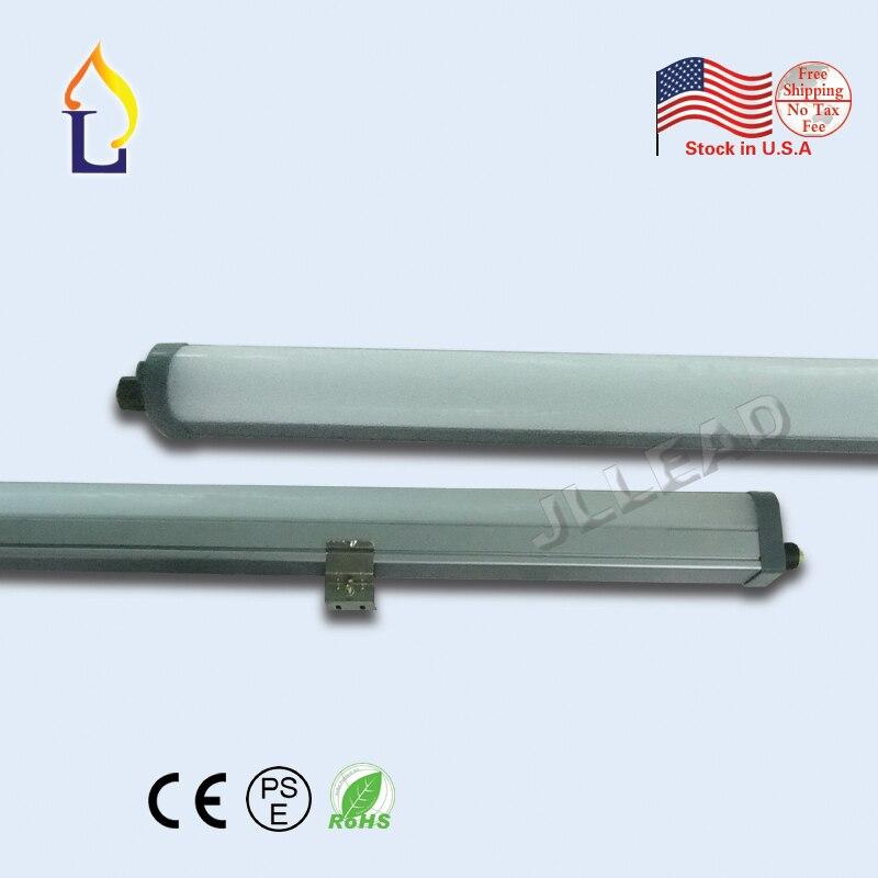 LED Tri-preuve lumière 55 W 72 W 4ft 5ft Surface intégrée Tubes LED anti-déflagrant AC100-277V LED latte Tube lumière