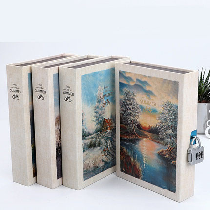Scenery Retro A5 Diary Set with Lock Notebook line Organize Cute Password Planner Travel Journal Stationery Gift Box Bujo 2020