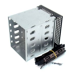 Image 1 - Yeni büyük kapasiteli paslanmaz çelik HDD sabit Disk kafes raf SAS SATA sabit Disk tepsi Caddy bilgisayar aksesuarları için qiang