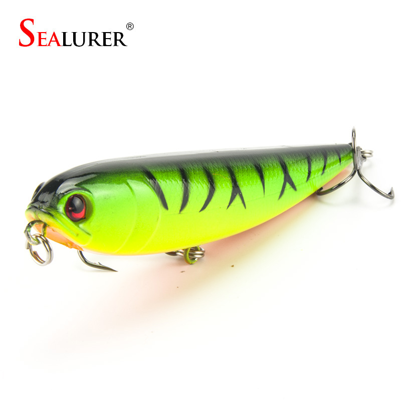 SEALURER Pencil Fishing Lure Wobbler Slow Floating 22g 12cm Pesca Crankbait Hard Bait Tackle 1pcs/lot 10 Colors sealurer fishing lure minnow hard bait pesca floating wobbler 8cm 7 5g isca carp crankbait jerkbait 5colors 1pcs lot