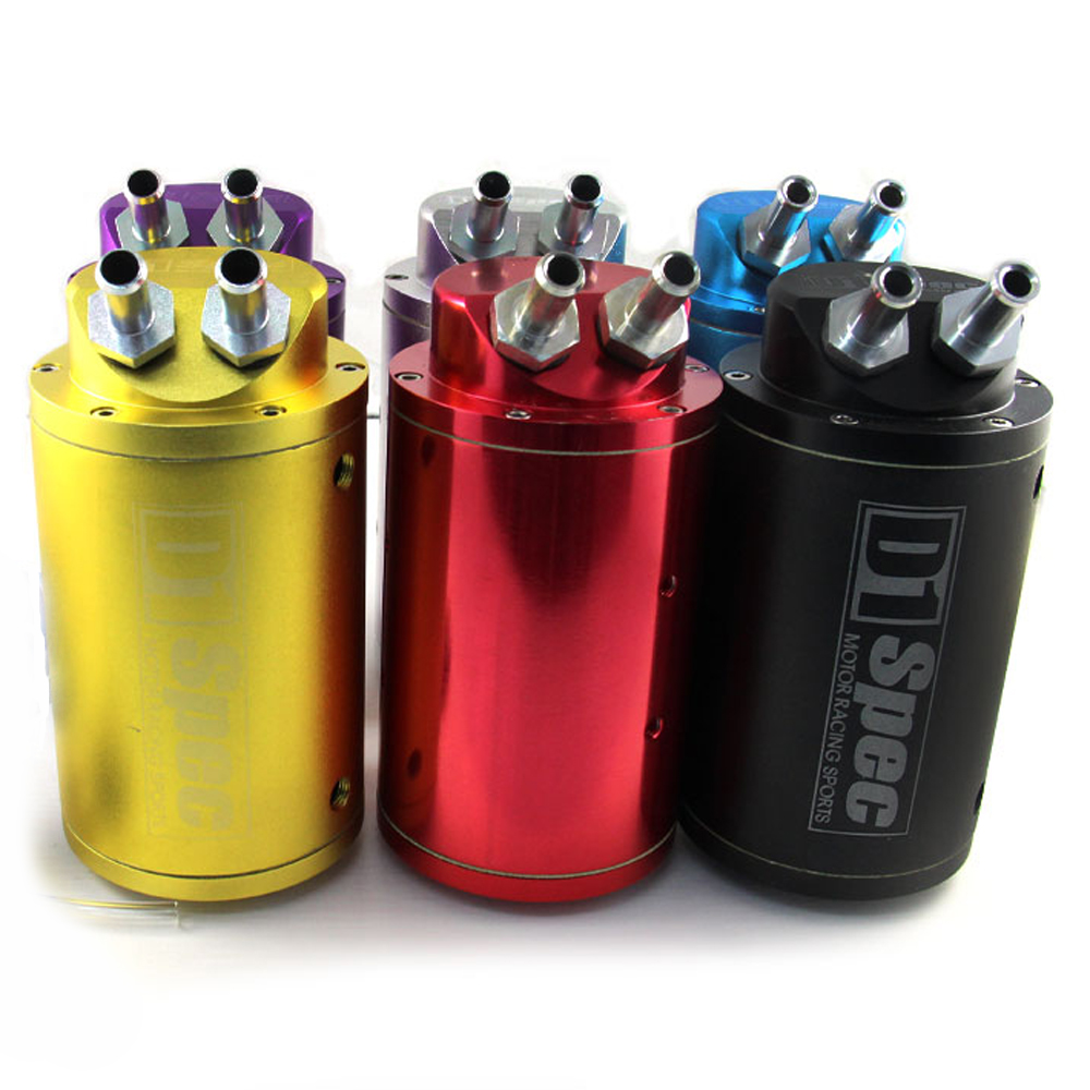 Racing Oil Catch Tank Reservoir Breather Kan Kit Billet Aluminium Cilinder Tuning Auto Prestaties 1 Pcs