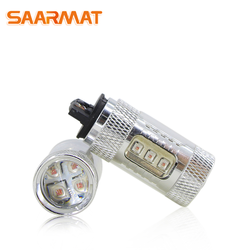 2x LED napake brez napake PWY24W PW24W Avtomobilske sijalke DRL - Avtomobilske luči - Fotografija 1