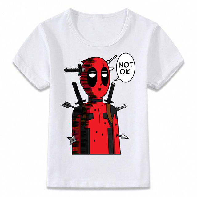 bc361d53c Kids T Shirt Deadpool One Punch Man OK Funny Crossover T-shirt Boys and  Girls Toddler Tee