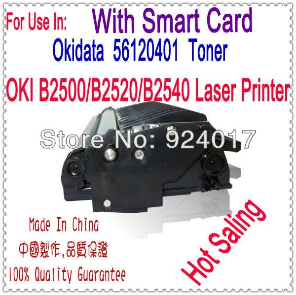 For Okidata B2500MFP B2520MFP B2540MFP Toner,For Okidata 56120401 Toner,For OKI B2500 B2520 B2540 MFP Printer,With Smart Card toner for oki data mc561 mfp for okidata mc352 mfp for oki data mc361 mfp color reset transfer belt cartridge free shipping