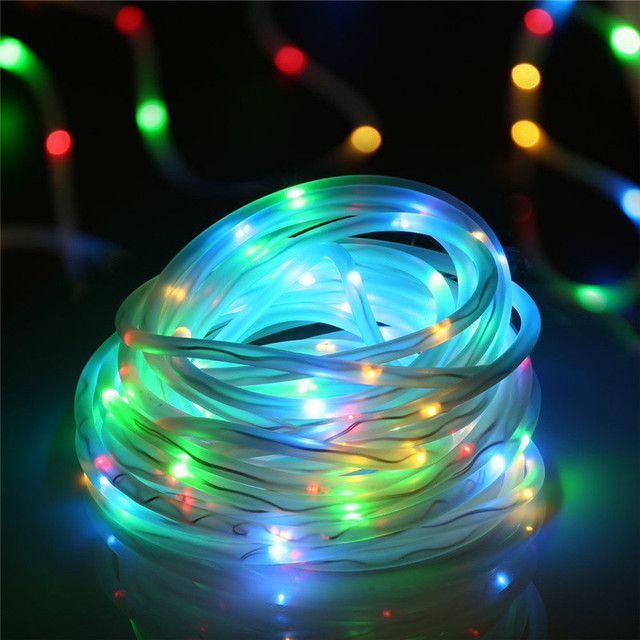 Solar String Lights 33ft 100 LED Outdoor Lighting Solar Rope Light Decorative Lamp for Patio Garden Camp Christmas Party Wedding