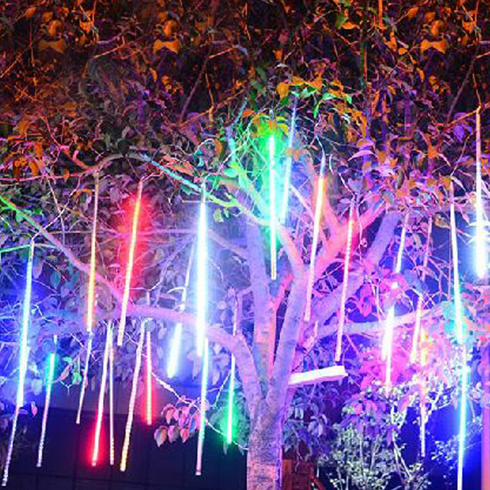2018 New Romantic Meteor Shower Rain 2835 Led String Fairy Flash Lights Xmas Holiday 30/50CM 10 TUBE Tree Decor Decoration